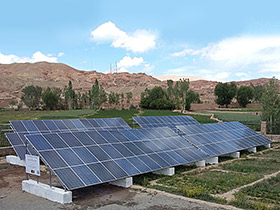Solar Power System on Bamyan University in Bamyan, Afghanistan